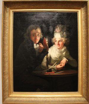 Anton Hickel, Verlobung bei Kerzenlicht, um 1790, Foto: Alexandra Matzner © Belvedere