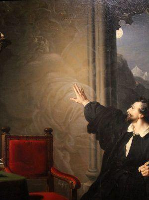 Johann Peter Krafft, Manfreds Sterbestunde, 1825, Geister, Foto: Alexandra Matzner © Belvedere