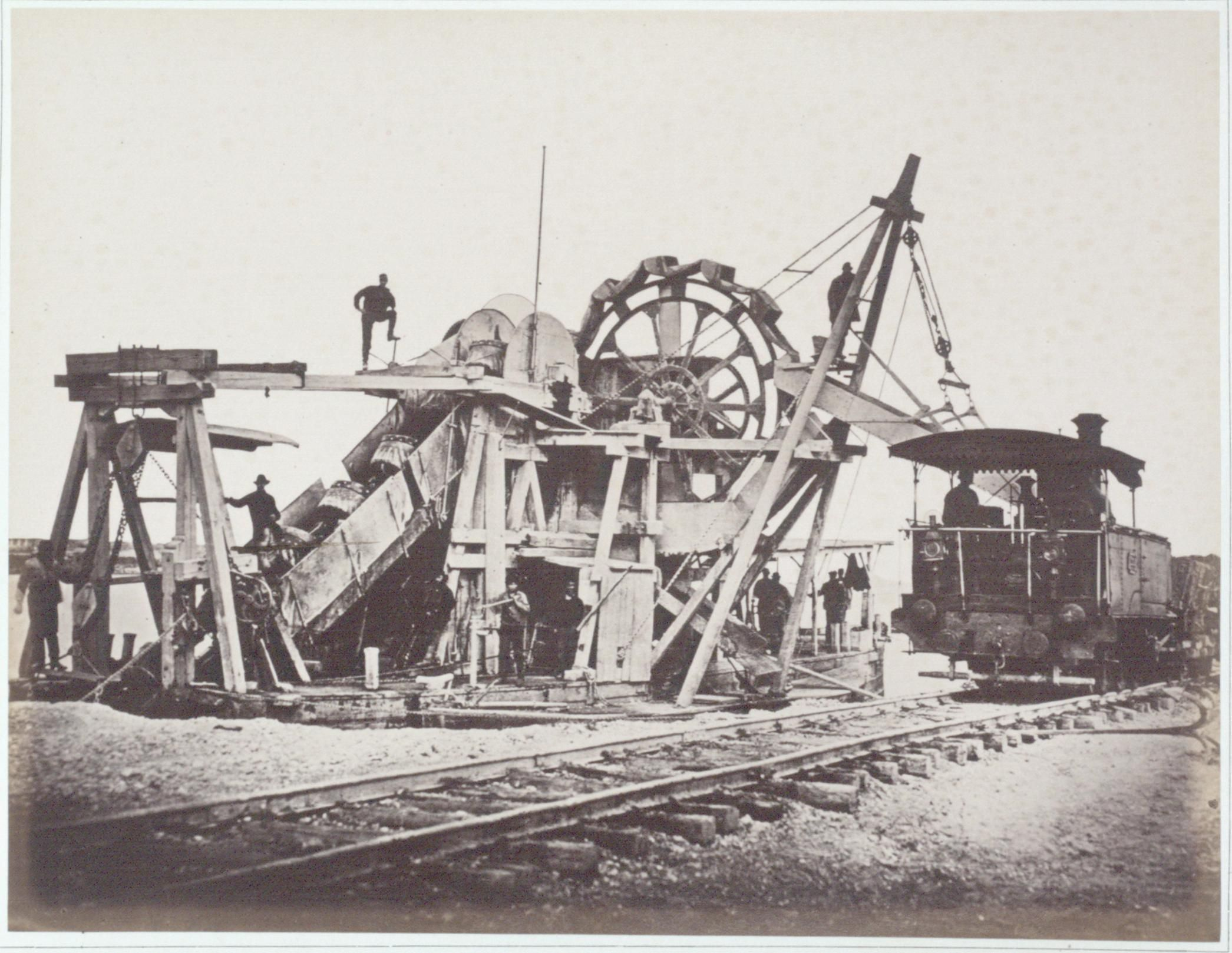 Oskar Kramer, Bagger Nr. 4, 1873-1876, Albertina, Wien.