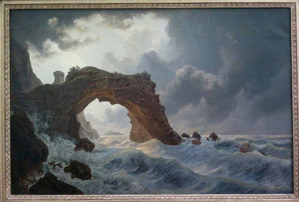 Joseph Rebell, Der Arco di Miseno bei Miliscola mit Blick nach Nisida, 1828, Öl auf Leinwand, 44,3 x 66cm (Berlin, Nationalgalerie), Foto: Alexandra Matzner