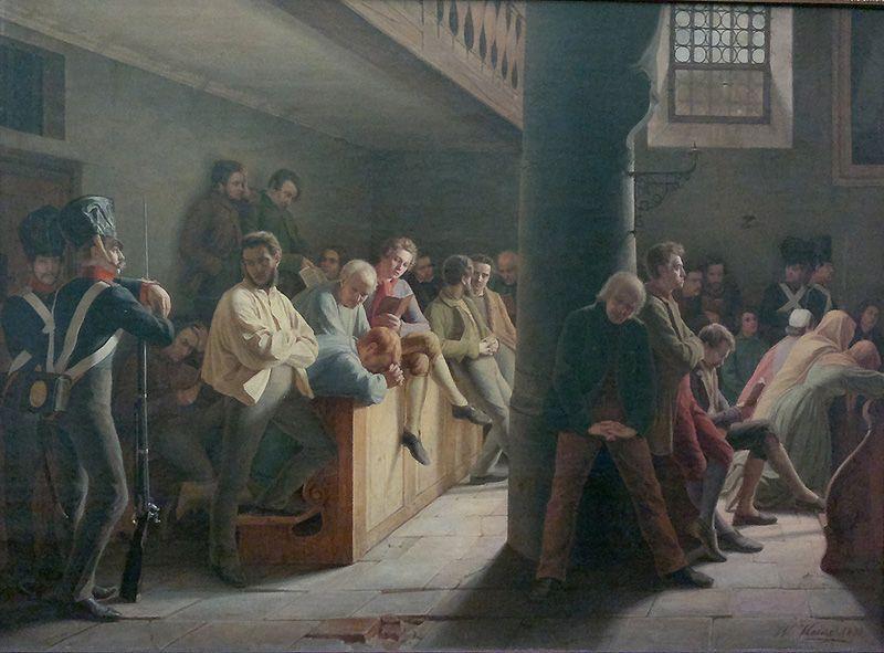 Wilhelm Joseph Heine, Gottesdienst in der Zuchthauskirche, 1838 (Berlin, Nationalgalerie), Foto: Alexandra Matzner