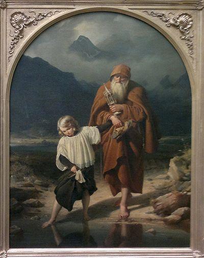 Eduard Daege, Der Messner, 1837, Öl auf LW, 65,8 x 49,8cm (Berlin, Nationalgalerie), Foto: Alexandra Matzner