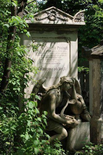 Wien, Friedhof von St. Marx, Trauerengel, Foto: Alexandra Matzner.