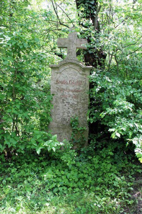 Grabmal von Basilio Calafati, Wien, Friedhof von St. Marx, Foto: Alexandra Matzner.
