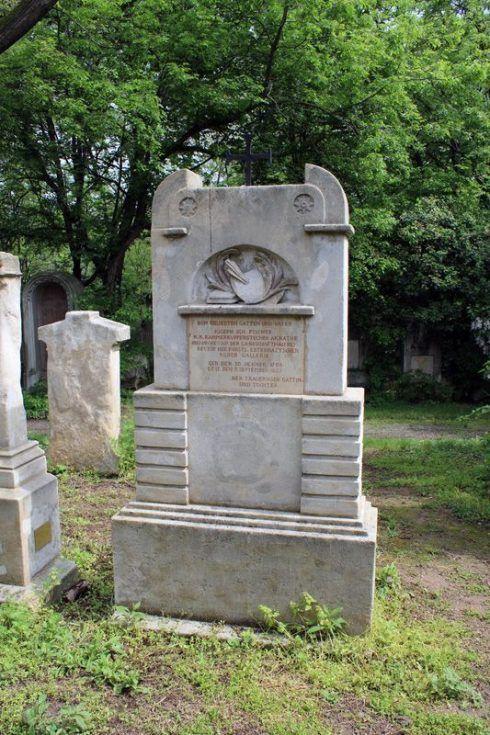 Grabmal von Fischer, Wien, Friedhof von St. Marx, Foto: Alexandra Matzner.
