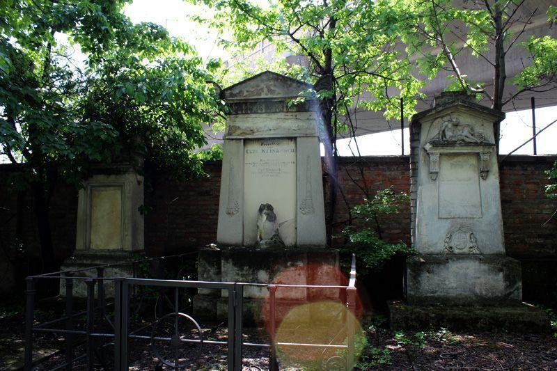 Grabmal von Carl Klinkosch, Wien, Friedhof von St. Marx, Foto: Alexandra Matzner.
