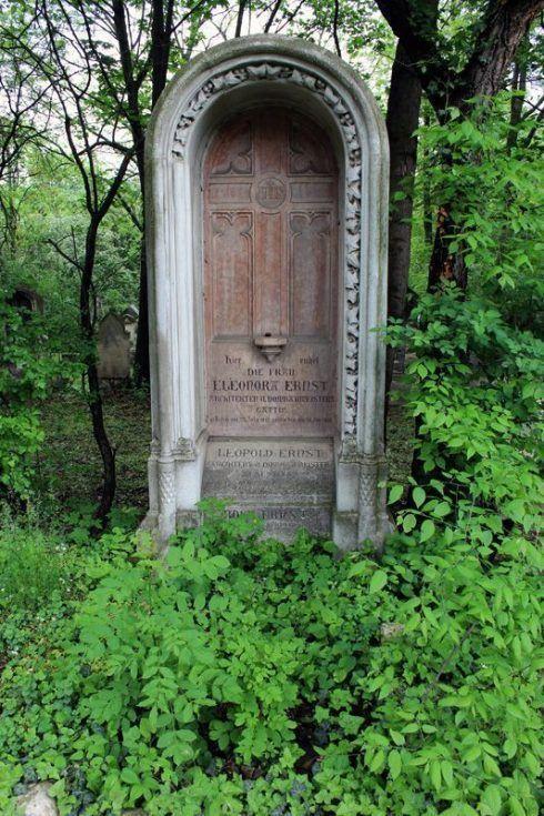 Grabmal von Leopold Ernst, Wien, Friedhof von St. Marx, Foto: Alexandra Matzner.