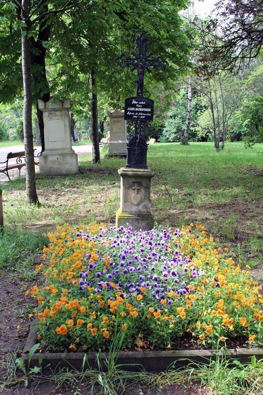 Grabmal von Joseph Madersperger, Wien, Friedhof von St. Marx, Foto: Alexandra Matzner.