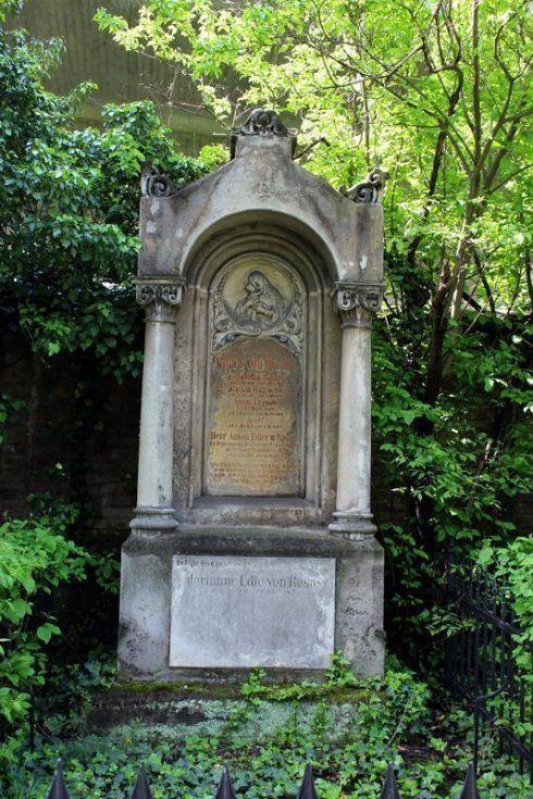 Grabmal von Anton Edler von Rosas, Wien, Friedhof von St. Marx, Foto: Alexandra Matzner.