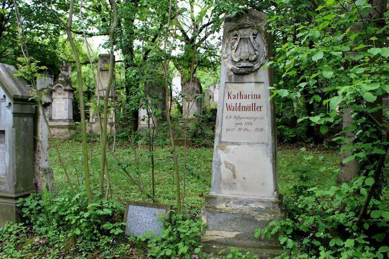Grabmal von Katharina Waldmüller, Wien, Friedhof von St. Marx, Foto: Alexandra Matzner.