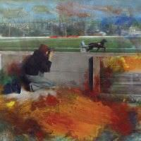 Leo Mayer, Krieau, 2009-2011, Öl auf Leinwand, 180 x 150 cm, Foto und ©: Leo Mayer