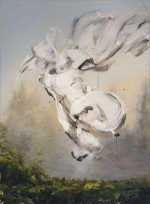 Thomas Riess, flying blur II, 2010, Acryl auf Leinwand / Acrylic on canvas, 150 x 110 cm, Foto: Renate Egger, © Thomas Riess