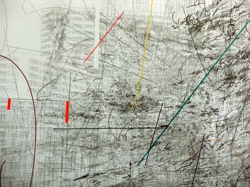 Julie Mehretu, Detail, dOCUMENTA (13) 2012, Installationsfoto: Alexandra Matzner.
