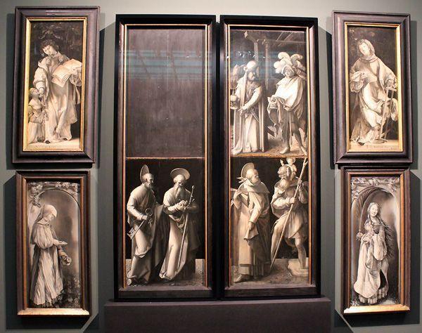 Dürer-Werkstatt (Flügelaußenseiten) und Mathis Gothart Nithart, gen. Grünewald (Standflügel), Heller-Altar, 1507–1509/10, geschlossener Zustand, Foto: Alexandra Matzner.