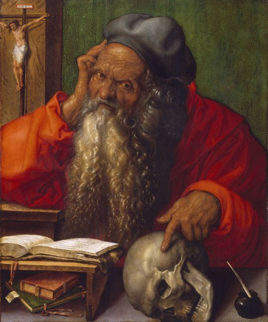 Albrecht Dürer, Hl. Hieronymus, 1521, Museu Nacional de Arte Antiga, Foto: José Pessoa © Museu Nacional de Arte Antiga, Direção-Geral do Património Cultural /Arquivo e Documentação Fotográfica.