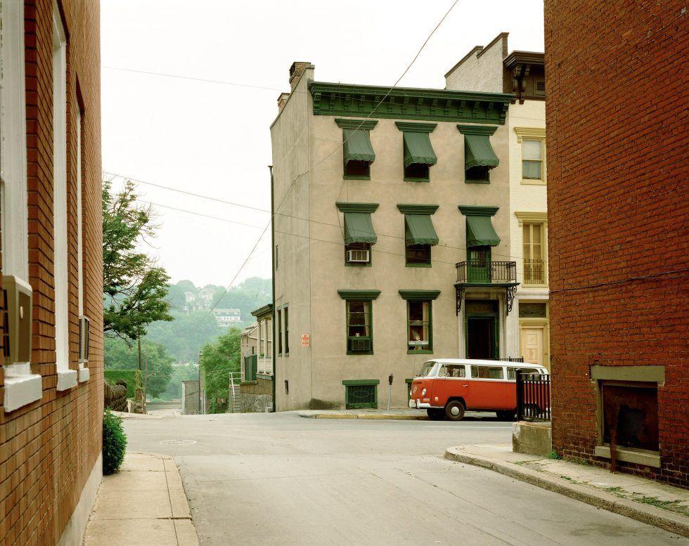 "Stephen Shore: ""Church Street and Second Street, Easton, Pennsylvania, June 20, 1974"" © Stephen Shore, Courtesy 303 Gallery New York."