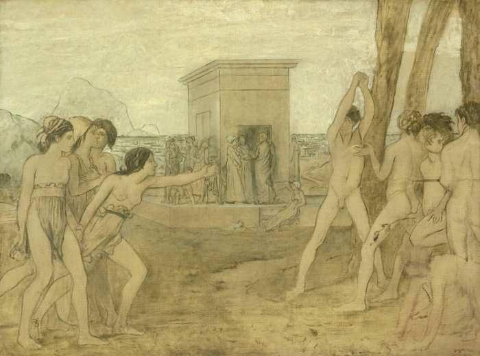 Edgar Degas, Junge Spartanerinnen fordern Knaben zum Wettkampf heraus, um 1860, The Art Institute of Chicago, Photography © The Art Institute of Chicago.
