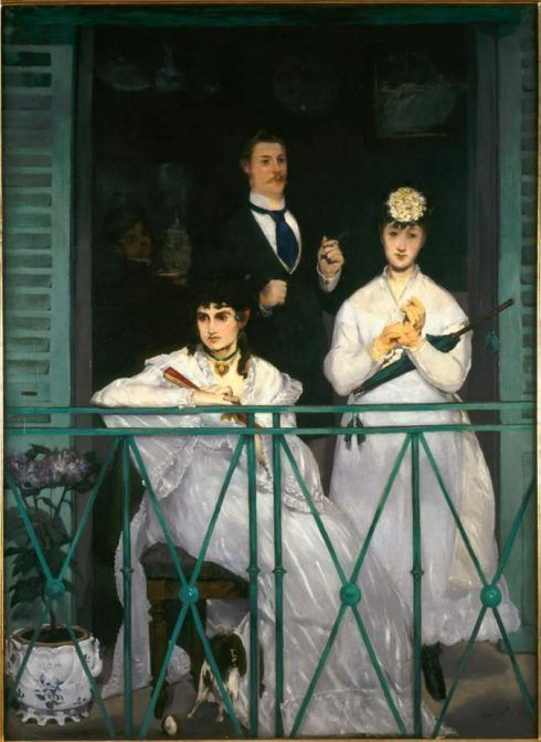 Édouard Manet, Le balcon / Der Balkon, um 1868/69, Öl auf Leinwand, 170 x 124,5 cm (Musée d'Orsay, Paris © bpk/RMN – Grand Palais, Foto: Hervé Lewandowski)