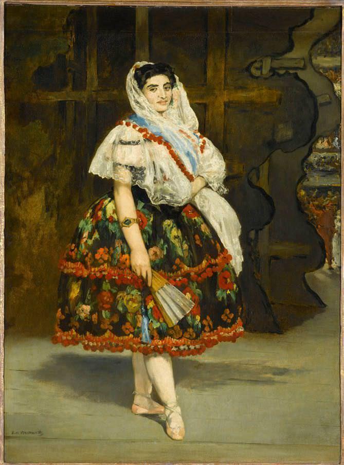 Édouard Manet, Lola de Valence, 1862-1863, verändert nach 1867, Öl auf Leinwand, 123x92 cm, Paris, Musée d'Orsay, Count Isaac de Camondo bequest to the Louvre, 1908 © RMN-Grand Palais (Musée d'Orsay) / Gérard Blot.