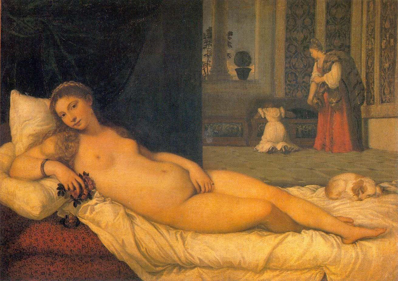Tizian, Venus von Urbino, 1538, Öl auf Leinwand, 119x165 cm, Florenz, Galleria degli Uffizi (su concessione del Ministero per i Beni e le Attività Culturali)/(courtesy of Ministero per i Beni e le Attività Culturali).