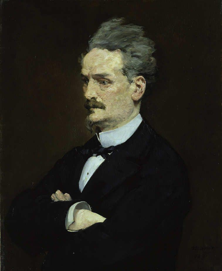 Edouard Manet, Henri Rochefort, 1881, Öl auf Leinwand, 81,5 x 66,5 cm (Hamburger Kunsthalle © bpk/Hamburger Kunsthalle, Foto: Elke Walford)