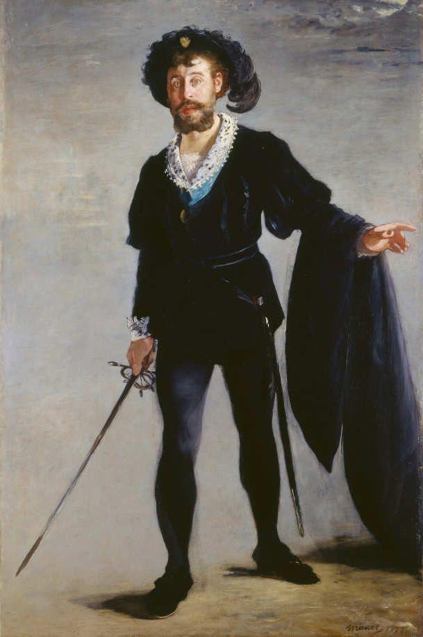 Edouard Manet, Jean-Baptiste Faure dans le rôle d'Hamlet / Jean-Baptiste Faure in der Rolle des Hamlet, 1877, Öl auf Leinwand, 194 x 131,5 cm (Museum Folkwang, Essen © Museum Folkwang, Essen – ARTOTHEK)
