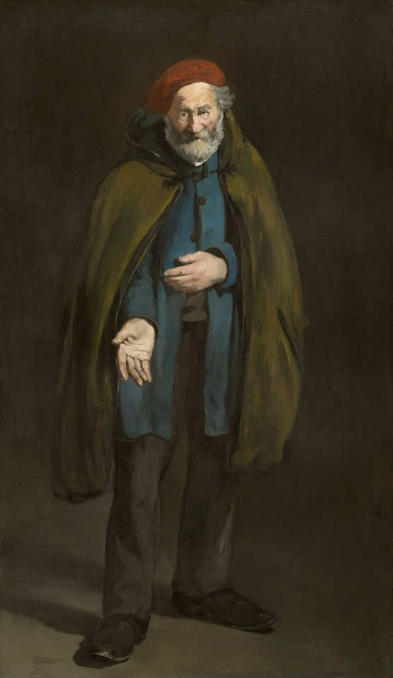 Edouard Manet, Philosophe (Le Mendiant) / Philosoph (Bettler mit Wintermantel), 1865–1867, Öl auf Leinwand, 187,7 x 109,9 cm (The Art Institute of Chicago, A. A. Munger Collection, 1910.304 © The Art Institute of Chicago)