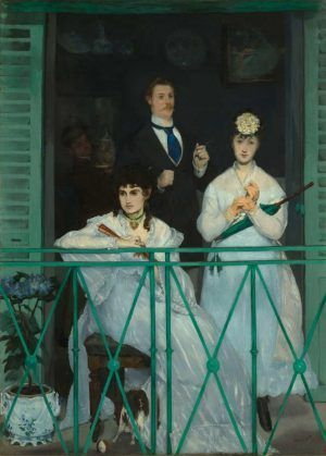 Edouard Manet, Le balcon / Der Balkon, um 1868/69, Öl auf Leinwand, 170 x 124,5 cm (Musée d'Orsay, Paris © bpk/RMN – Grand Palais, Foto: Hervé Lewandowski)
