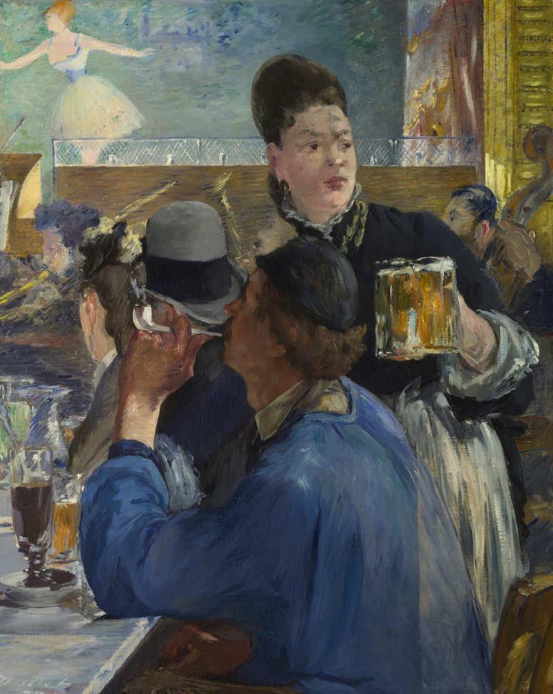 Edouard Manet, Coin de café-concert / Ecke im Café-Concert, 1879, Öl auf Leinwand, 97,1 x 77,5 cm (The National Gallery, London, Bought, Courtauld Fund, 1924 © The National Gallery, London)