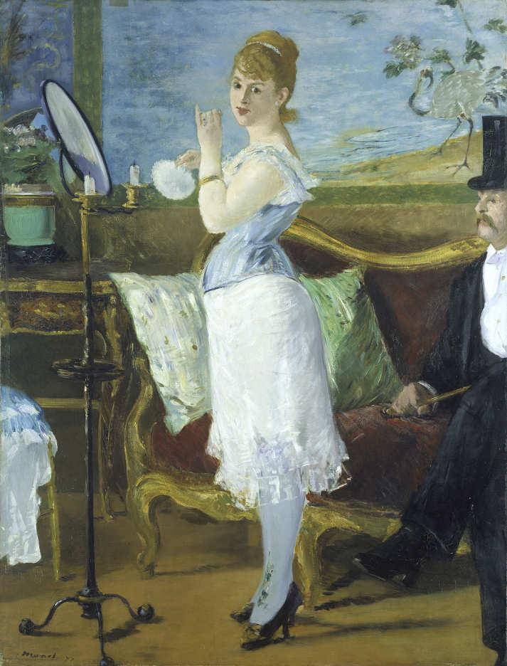 Edouard Manet, Nana, 1877, Öl auf Leinwand, 154 x 115 cm (Hamburger Kunsthalle © bpk Hamburger Kunsthalle, Foto: Elke Walford)