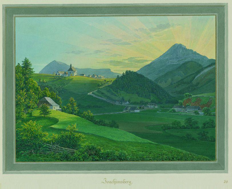 Eduard Gurk, Joachimsberg, 1833; Aquarell, 32,5x42,5 cm; Inv.Nr. KS-6536-24.