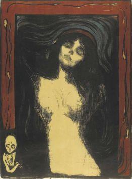 Edvard Munch, Madonna, 1895 bis nach 1902, Lithografie, Privatsammlung Courtesy Galleri K, Oslo © Reto Rodolfo Pedrini, Zürich.
