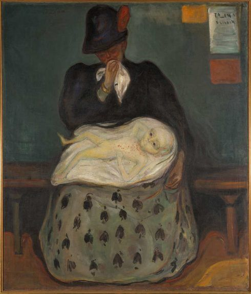 Edvard Munch, Das Erbe (Syphiliskind), 1897-1899, Öl auf Leinwand, 141 x 120 cm (Munch-museet, Oslo)
