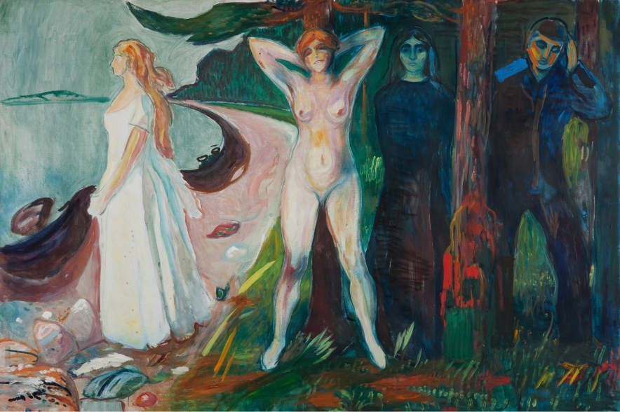 Edvard Munch, Frau / Woman, 1925, Öl auf Leinwand / Oil on canvas, 155 x 230 cm, Oslo, Munch-museet, Photo © Munch Museum.