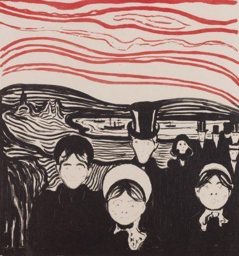 Edvard Munch, Angst, 1896, Lithografie, Privatsammlung Courtesy Galleri K, Oslo © Reto Rodolfo Pedrini, Zürich