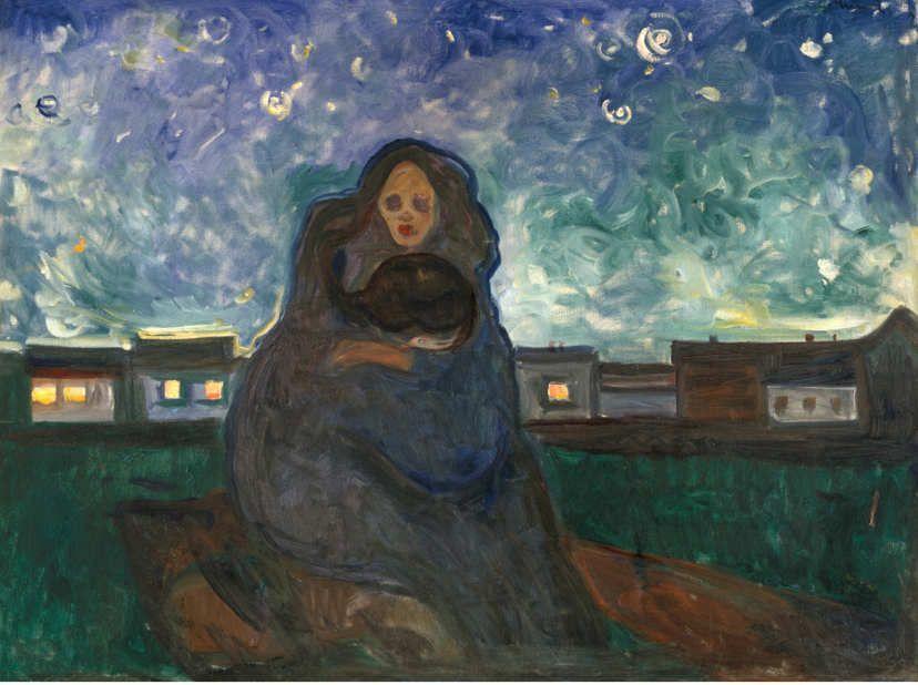 Edvard Munch, Unter den Sternen, 1900-1905, Öl/Lw, 90 x 129 cm (Munchmuseet Oslo)