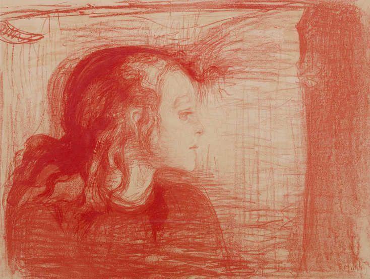Edvard Munch, Das kranke Kind I, 1896/97, Lithografie, handkoloriert, Privatsammlung Courtesy Galleri K, Oslo © Reto Rodolfo Pedrini, Zürich.