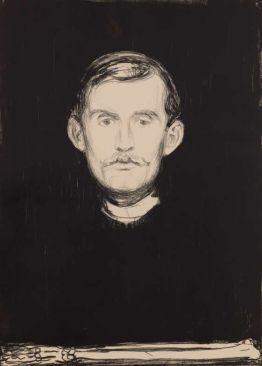 Edvard Munch, Selbstporträt, 1895, Lithografie, Privatsammlung Courtesy Galleri K, Oslo © Reto Rodolfo Pedrini, Zürich.