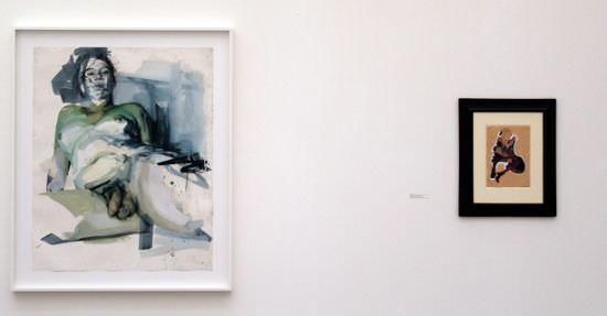 Egon Schiele - Jenny Saville, Installationsansicht Kunsthaus Zürich, Foto: Alexandra Matzner.
