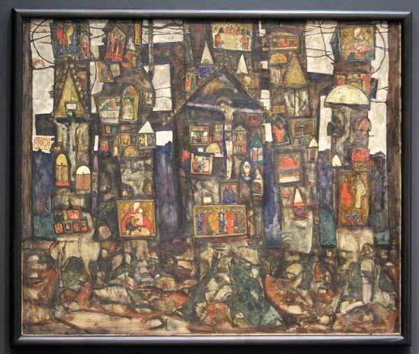 Egon Schiele, Waldandacht, 1915, Öl auf Leinwand, 100 x 120,3 cm, Kunsthaus Zug, Stiftung Sammlung Kamm.