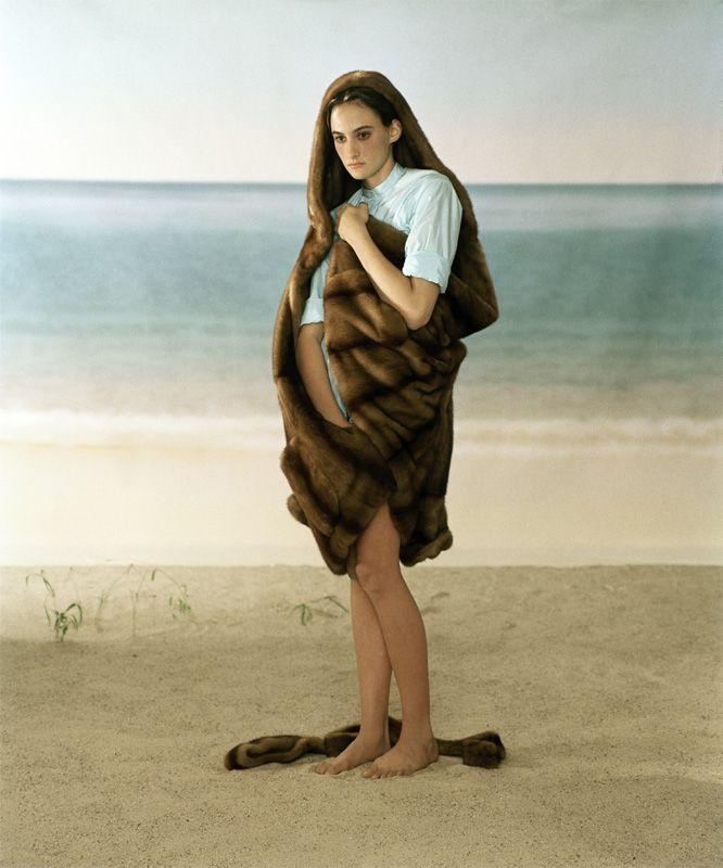 Elfie Semotan, Madonna mit Pelz, für den Liska-Pelzkatalog, New York, 1998 (c) Elfie Semotan.