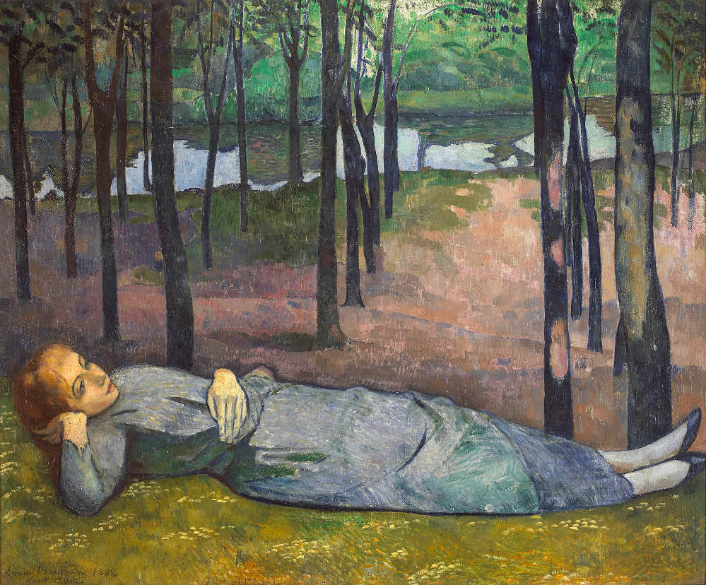 Émile Bernard, Madeleine im Liebeswald, 1888, Öl auf Leinwand, 137 x 163 cm, Paris, Musée d'Orsay © RMN-Grand Palais Dist. RMN-Grand Palais / Patrice Schmidt.