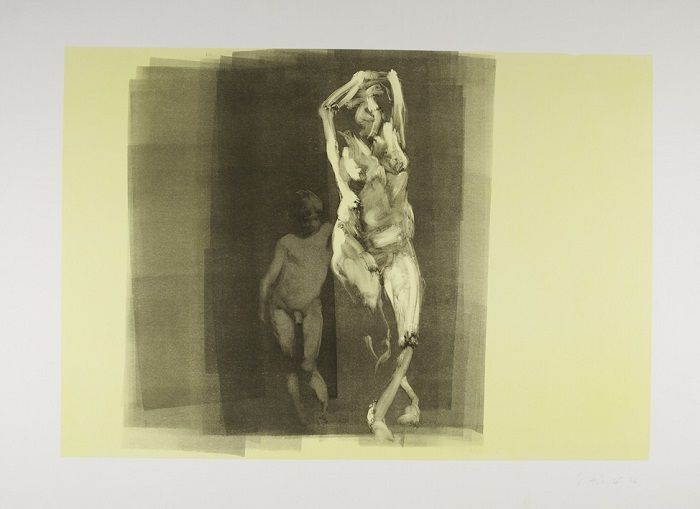 Eric Fischl, Scenes and Sequences: Boy, 1986, Monotype auf Papier, 64 x 88 cm, Albertina, Wien © Eric Fischl.