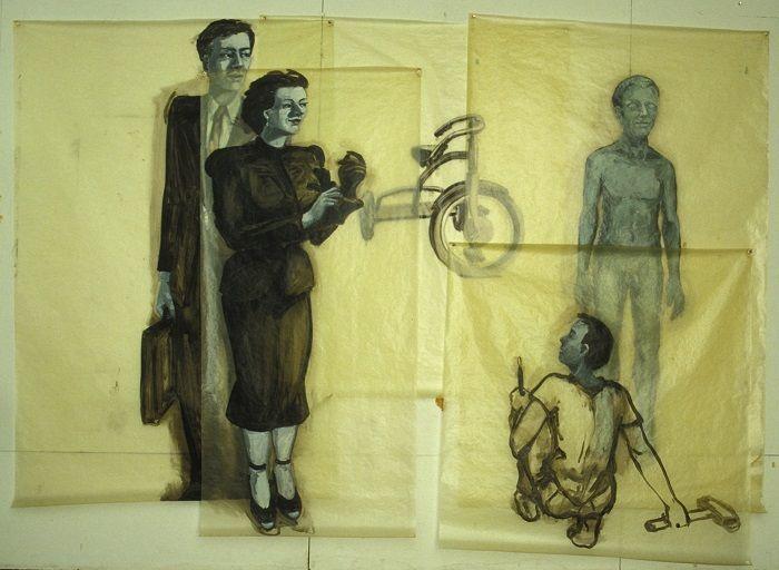 Eric Fischl, The Critics, 1979, Öl auf Pergamin, © Courtesy des Künstlers und Jablonka Galerie, Köln.