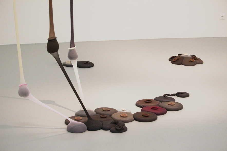 Ernesto Neto, Copulonia, 1989/2009, Detail, Installationsfoto: Alexandra Matzner.