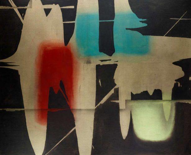 Erwin Bohatsch, Ohne Titel, 2014, Acryl und Öl auf Leinwand, 200 x 250 cm (Albertina, Wien)