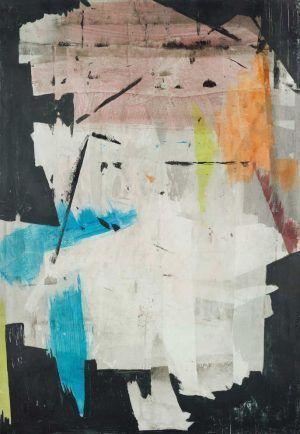 Erwin Bohatsch, Ohne Titel, 2015, Acryl und Öl auf Papier, 63 x 44 cm (Albertina Wien)