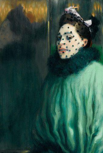 Louis Anquetin, Femme à la voilette, 1891, Öl auf Leinwand, 81 x 55 cm. © Privatsammlung, courtesy of D. Nisinson.