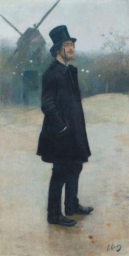 Ramon Casas, Le Bohème, poète de Montmartre (Portrait d'Erik Satie), 1891, Öl auf Leinwand, 198,8 x 99,7 cm. Courtesy Northwestern University Library.