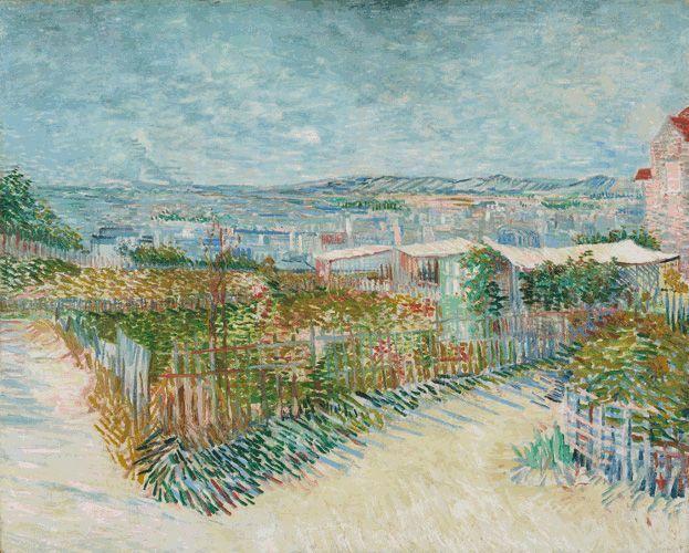 Vincent van Gogh, Montmartre: derrière le Moulin de la Galette, 1887, Öl auf Leinwand, 81 x 100 cm. Van Gogh Museum Amsterdam (Vincent van Gogh Foundation).